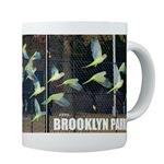 Wild urban parrot coffee mug