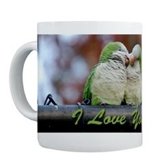 Brooklyn Parrots I Love You Mug