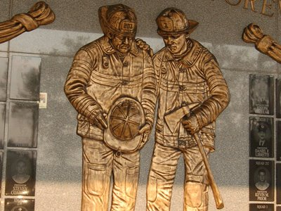Memorial honoring Brooklyn firefighters lost September 11, 2001
